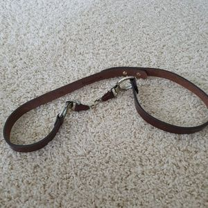 Massimo Dutti brown leather belt